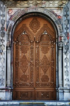 Intricately carved doors~