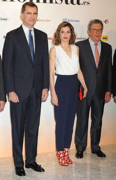 Reyes Felipe y Letizia han acudido al almuerzo conmemorativo del X aniversario del diario digital elEconomista, celebrado en el hotel Villa Magna de Madrid. 08.06.2016