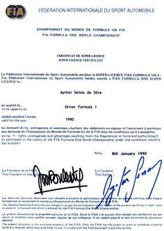 Certificado de Super Licença - FIA - 1990