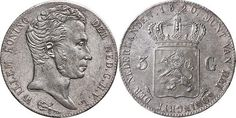 NumisBids: Schulman b.v. Auction 346, Lot 650 : KONINKRIJK DER NEDERLANDEN - WILLEM I 1815–1840 3 Gulden 1820 Jong...