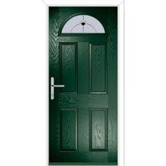 Oasis Composite PVC 1 Panel Ready to Install Glazed Front Entry Door Rosalind Wheeler Door Finish: Green, Door Size: H x Pine Doors, Entry Doors, Glazed External Doors, Composite Front Door, Lever Door Handles, Outdoor Doors, Ral Colours, Door Sets, Door Accessories