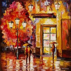 Little Story - PALETTE KNIFE Oil Painting On Canvas By Leonid Afremov