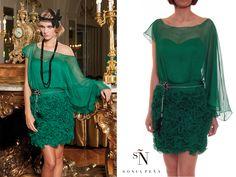 16930581a26f 15% OFF Sonia Peña  emeraldgreen dress. SHOP NOW at www.rosapiuma.
