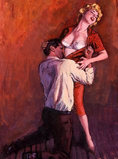 Sensuous Illustration and Painting Set by oldcarguy41 @ Flickr  (here, illustration by Ernest Chiriaka)