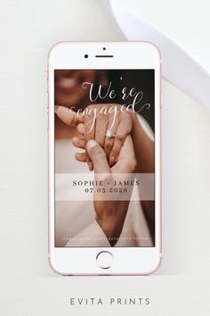 Engagement Announcement Template, Add Your Own Engagement Photo, Electronic Photo Engagement Message, Editable Engagement Announcement, Were engaged, Engagement SMS Bachelorette Party Invitations, Bridal Shower Invitations, Electronic Save The Date, Wedding Templates, Digital Invitations, As You Like, Engagement Photos, Announcement, First Love