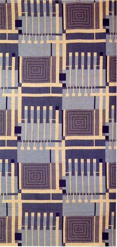 'Design 102' textile design by Frank Lloyd Wright, produced by F Schumacher & Co in 1957. @designerwallace