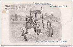 AD: Prosperity Implements Co. , Chattanooga , Tennessee , PU-1910 : Chattanooga Sulky Plow