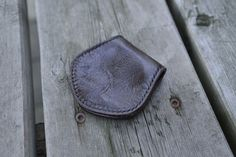 SALE Leather coinpurse / recycled leather by NHLdesign on Etsy