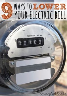 Simple ideas for how to lower your electric bill this summer. These tips go beyond the typical 'turn off the lights' and 'turn up the thermostat.' Pay off Debt #debt