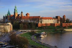 View from VIDOK Restaurant & Cafe - Wawel Castle in Cracow #cracow #wawel  www.restauracjavidok.pl