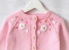 Baby pink cotton sweater summer cardigan baby girl sweater knitted sweater flower girl cardigan flower embroidery MADE TO ORDER, Diy Abschnitt, Knitted Baby Cardigan, Baby Pullover, Summer Cardigan, Crochet Cardigan Pattern, Cotton Sweater, Baby Girl Cardigans, Girls Sweaters, Baby Sweaters, Knitting For Kids