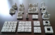 Hirst Arts, Dungeon Tiles, 3d Printer Designs, Game Terrain, Game Concept, Paint Schemes, Tabletop Games, Miniture Things, Dungeons And Dragons