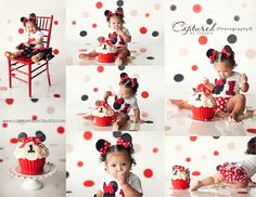 One Year Minnie Mouse Cake Smash   www.capturedbyclaudia.com