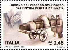 2005 - Giorno del ricordo dell'esodo dall'Istria, Fiume e Dalmazia -  diaspora forzata della maggioranza dei cittadini di etnia e di lingua italiana alla fine della seconda guerra mondiale  dai territori del Regno d'Italia -Esodo di una famiglia italiana