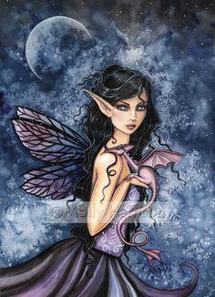 Fairy Dragon Art Print by Molly Harrison by MollyHarrisonArt, $18.00