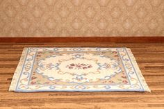 Dollhouse carpet KIT, needlepoint embroidery,   'Judith', for twelfth scale dollhouses – 9 inches  x 7.25 inches, 18 count canvas