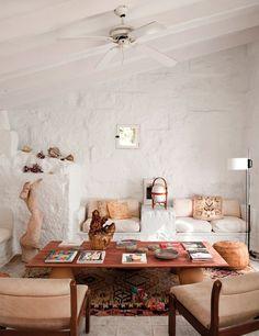 whitewashed living room
