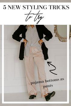 Plus Size Fashion Tips, Fashion Tips For Women, Teen Fashion, Fashion Ideas, New Outfits, Cute Outfits, Mix Style, Silk Pajamas, Pajama Bottoms