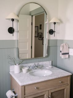 Kidd Kid's Bath Reveal (plus, sources! Bathroom Renos, Small Bathroom, Bathroom Ideas, Bathroom Inspo, Master Bathroom, Bathroom Organization, Bathroom With Beadboard, Master Master, Minimal Bathroom