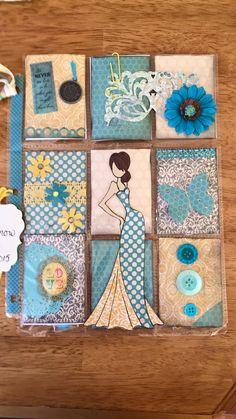 Blue and Pink Prima Doll Pocket Letter