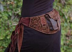Golden Brown Pocket Belt Utility belt Festival by Sandalamoon
