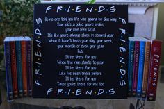 Friends TV Show Canvas - I'll Be There For You Theme Song by WorldOfVinyl on Etsy https://www.etsy.com/listing/251491559/friends-tv-show-canvas-ill-be-there-for