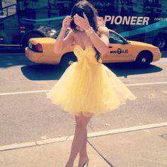 dress prom dress yellow girl girly