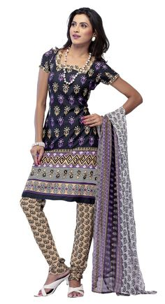 Lush Black & Cream Printed #Salwar_Kameez