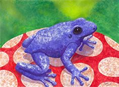 Blue Frog Painting by Catherine G McElroy - Blue Frog Fine Art Prints and Posters for Sale