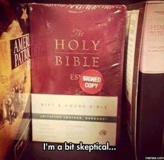 Holy Bible Signed Copy || Christian Humor