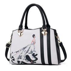 Hot Women Handbag Print Stripe Pendant Feminina Bags Shoulder Bags Portable Tote Mujer Sac Brand Designer Girl Pouch Bolsa