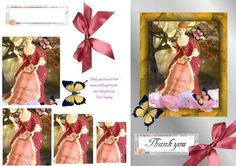 lady pink on Craftsuprint - Add To Basket! Wedding Stationary, Vintage Cards, Thank You Cards, Decoupage, Card Making, Greeting Cards, Basket, Make It Yourself, 3d