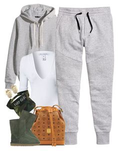 """""""Untitled #1606"""" by power-beauty ❤ liked on Polyvore featuring H&M, NLY Trend, MCM and UGG Australia"""