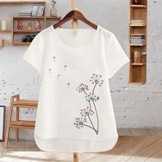Harajuku Summer Women Tops Cotton T-Shirt Embroidered Flowers Short Sleeve White T-shirt Plus Size T Shirts Female Casual Top Harajuku Summer Women Tops Cotton T-Shirt Embroidered Flowers Short Sl – geekbuyig Embroidered Shorts, Embroidered Flowers, Plus Size T Shirts, Casual Tops For Women, Embroidery Dress, Floral Embroidery, Embroidery Designs, T Shirts For Women, Couture