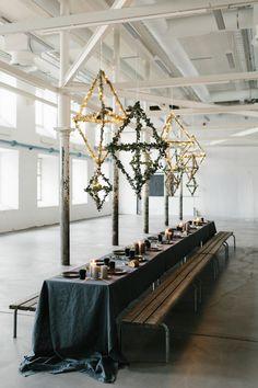 MAIJU SAW | MAIJU SAW Wedding Decorations, Table Decorations, Industrial Wedding, Winter, Party, Table Settings, Candles, Simple, Diy
