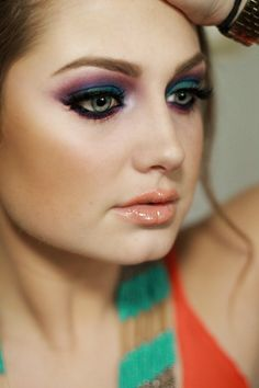Urban Decay Electric Palette, Bright Makeup, Bold Brows.  Makeup by Sunkissed & Made Up