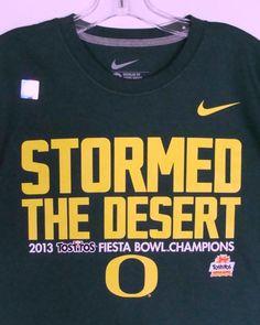 Oregon Ducks 2013 Tostitos Fiesta Bowl Champions Mens T-Shirt Football NCAA Nike #Nike #OregonDucks