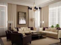 Salas decoradas en color chocolate y crema - Colores en casa