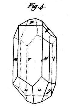"Figure 11 - A crystal drawing of ""épiméride"" from Haüy, (1812.)"