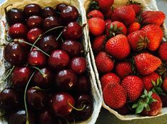 30.06. - frische Erdbeeren und Kirschen vom Bauern machen mich heute glücklich  #100happydays #happinesschallenge