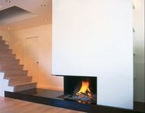 contemporary corner fireplace (wood-burning open hearth) UNIVERSAL MF 1050-75 2S L Metalfire
