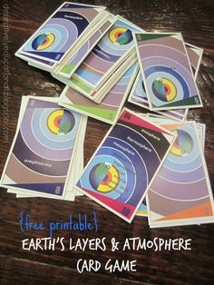 Relentlessly Fun, Deceptively Educational: Earth's Layers & Atmosphere Card Game {free printable}