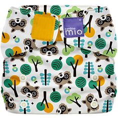 Raccoon Retreat Bambino Mio miosolo All-In-One Diaper - raccoons cloth diaper