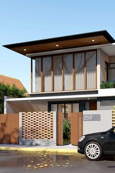 An approach to modern Mediterranean architecture, this project has an earth theme color palette with a playful approach to lines and patterns. With the use, of bricks to create an interesting texture on the facade. Mediterranean Architecture, Design Firms, Bricks, Facade, Palette, Earth, Texture, Patterns, Interior Design