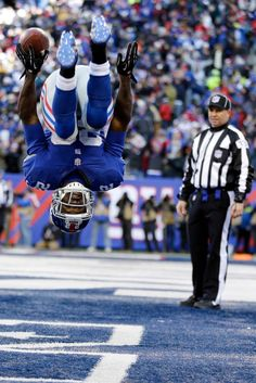 David Wilson, New York Giants this is after Luke tackled him during the Carolina Panthers game.