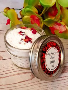 Romantic Rose Bath Salts Bath Soak Rose Bath by LittleChantique