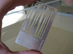 Lock pick business card