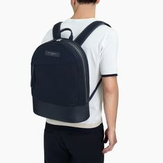 Navy backpack | Minimalist bags for men | Stylish bags for men | Capsule wardrobe | Slow fashion | Simple style | Less is more