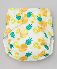 Look at this #zulilyfind! Awesome Blossom Light Yellow Pineapple Pocket Diaper by Awesome Blossom #zulilyfinds