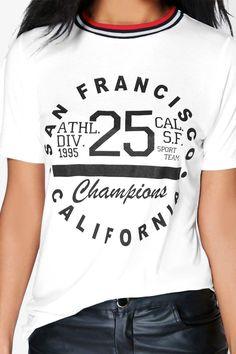 Summer Slogan Ribneck T-Shirt at boohoo.com